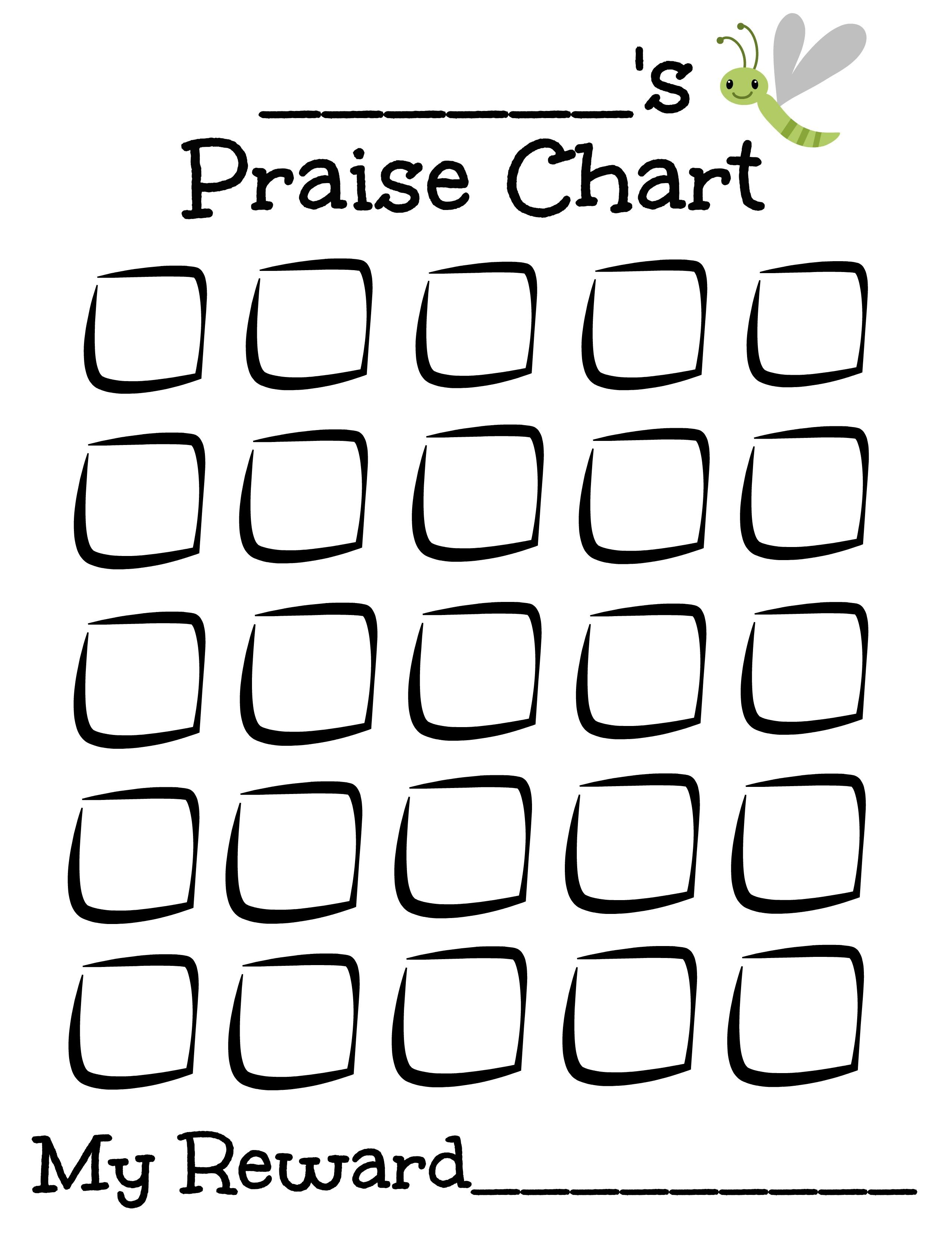 Free Printable Praise Chart