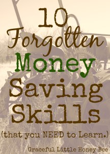 10 Forgotten Money Saving Skills on gracefullittlehoneybee.com