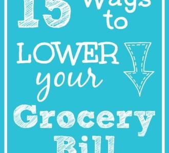 15 Ways to Lower Your Grocery Bill on gracefullittlehoneybee.com