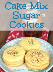 Cake Mix Sugar Cookies on gracefullittlehoneybee.com
