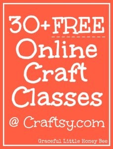 Choose from over 30 online craft classes for FREE!! Includes sewing, crochet, photography, gardening, drawing, cake decorating and more!