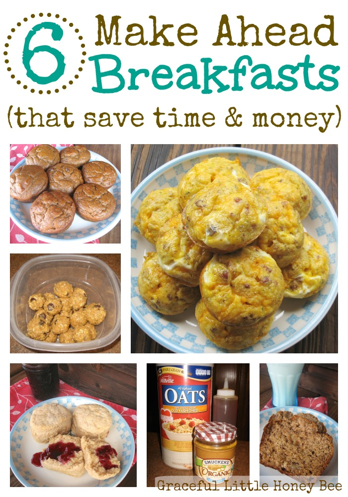 These simple make ahead breakfasts are great for busy mornings!