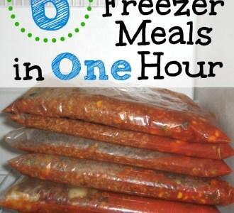 6 Healthy Freezer Meals in ONE Hour on gracefullittlehoneybee.com