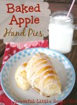 Baked Apple Hand Pies on a white plate with a glass of milk.
