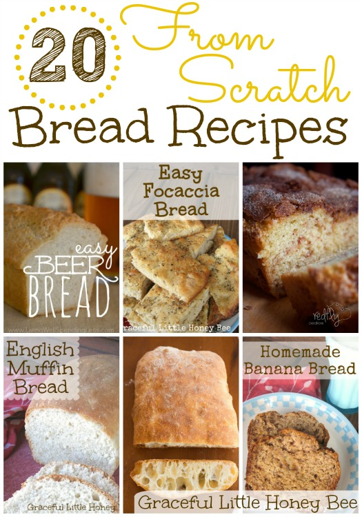 This is an awesome round-up of from scratch yeast and quick bread recipes.