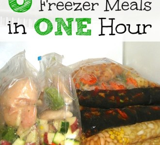 6 Slow Cooker Freezer Meals in One Hour on gracefullittlehoneybee.com