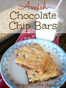 Amish Chocolate Chip Bars on gracefullittlehoneybee.com