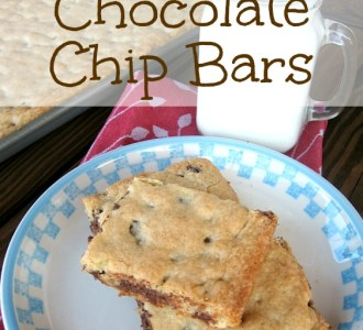 Amish Chocolate Chip Bars on gracefullittlehoneybee.com