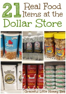 21 Real Food Items at the Dollar Store on gracefullittlehoneybee.com