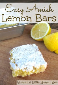 These Amish Lemon Bars are a snap to make and taste amazing!