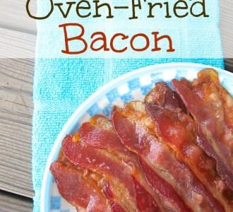 Quick & Easy Oven-Fried Bacon on gracefullittlehoneybee.com