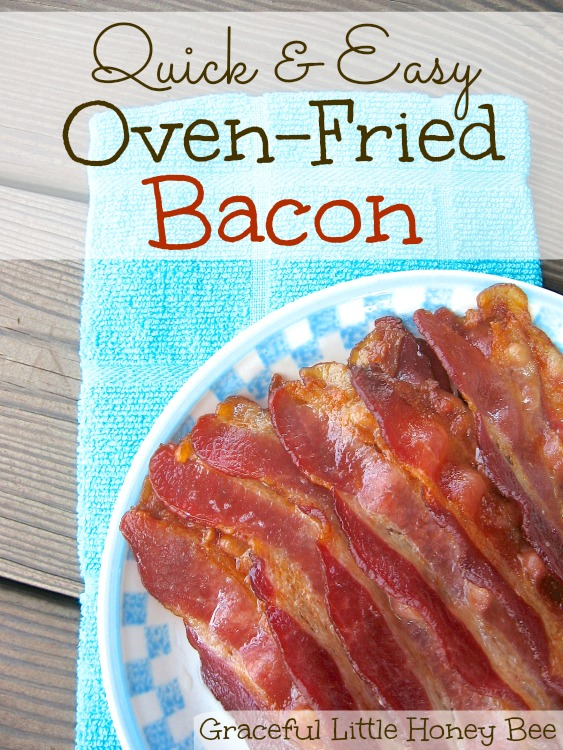 See how to make this super easy oven-fried bacon for perfectly crispy results every time!
