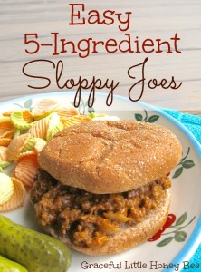 Your family is sure to love these easy 5-ingredient Sloppy Joes!
