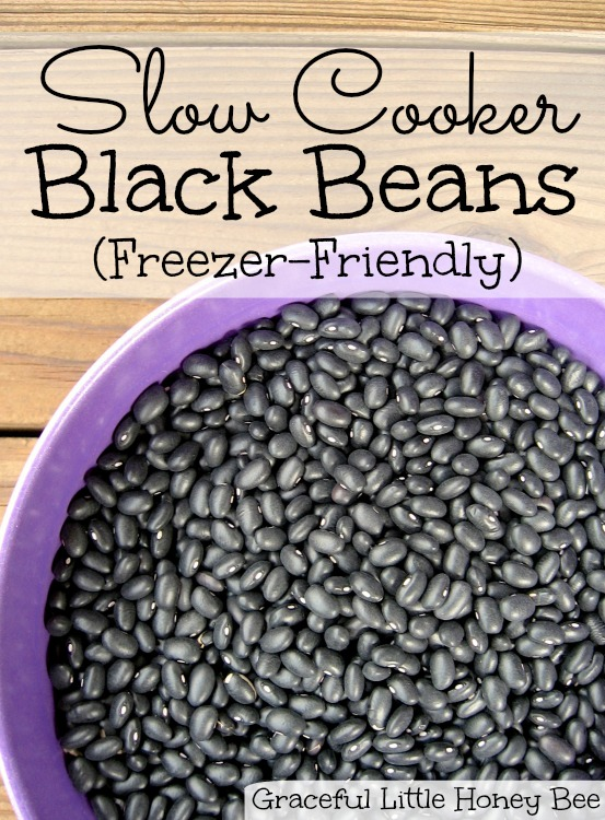 Ditch the can and learn how to cook black beans in your slow cooker! You can freeze them in small portions for whenever you need them.
