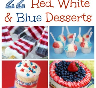 Red, White and Blue Desserts on gracefullittlehoneybee.com