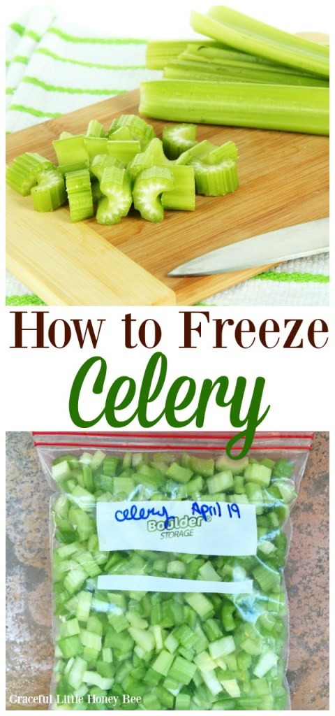 See how easy it is to freeze celery for soups and stews on gracefullittlehoneybee.com