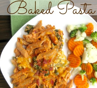 Kale and Bacon Baked Pasta on gracefullittlehoneybee.com #choppedathome #ad #sponsored