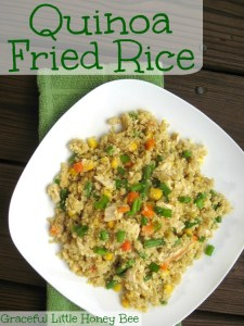 Quinoa Fried Rice is a gluten-free super healthy dish that your family will love!!