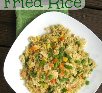 Quinoa Fried Rice on gracefullittlehoneybee.com