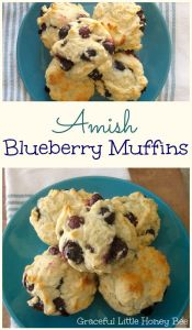 Easy Amish Blueberry Muffins on gracefullittlehoneybee.com