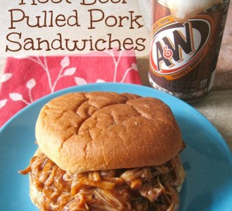 Slow Cooker Root Beer Pulled Pork Sandwiches on gracefullittlehoneybee.com
