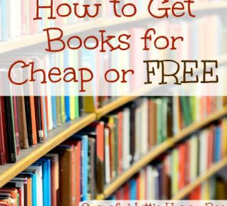 See five ways to score books for cheap or free on gracefullittlehoneybee.com