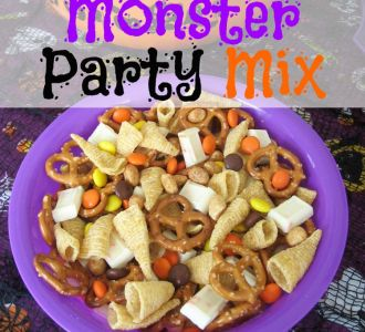 Easy Monster Party Mix recipe on gracefullittlehoneybee.com