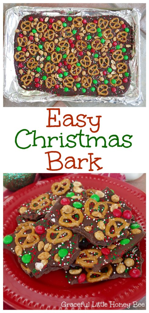 See how to make this Easy Christmas Bark to enjoy or give as a gift on gracefullittlehoneybee.com