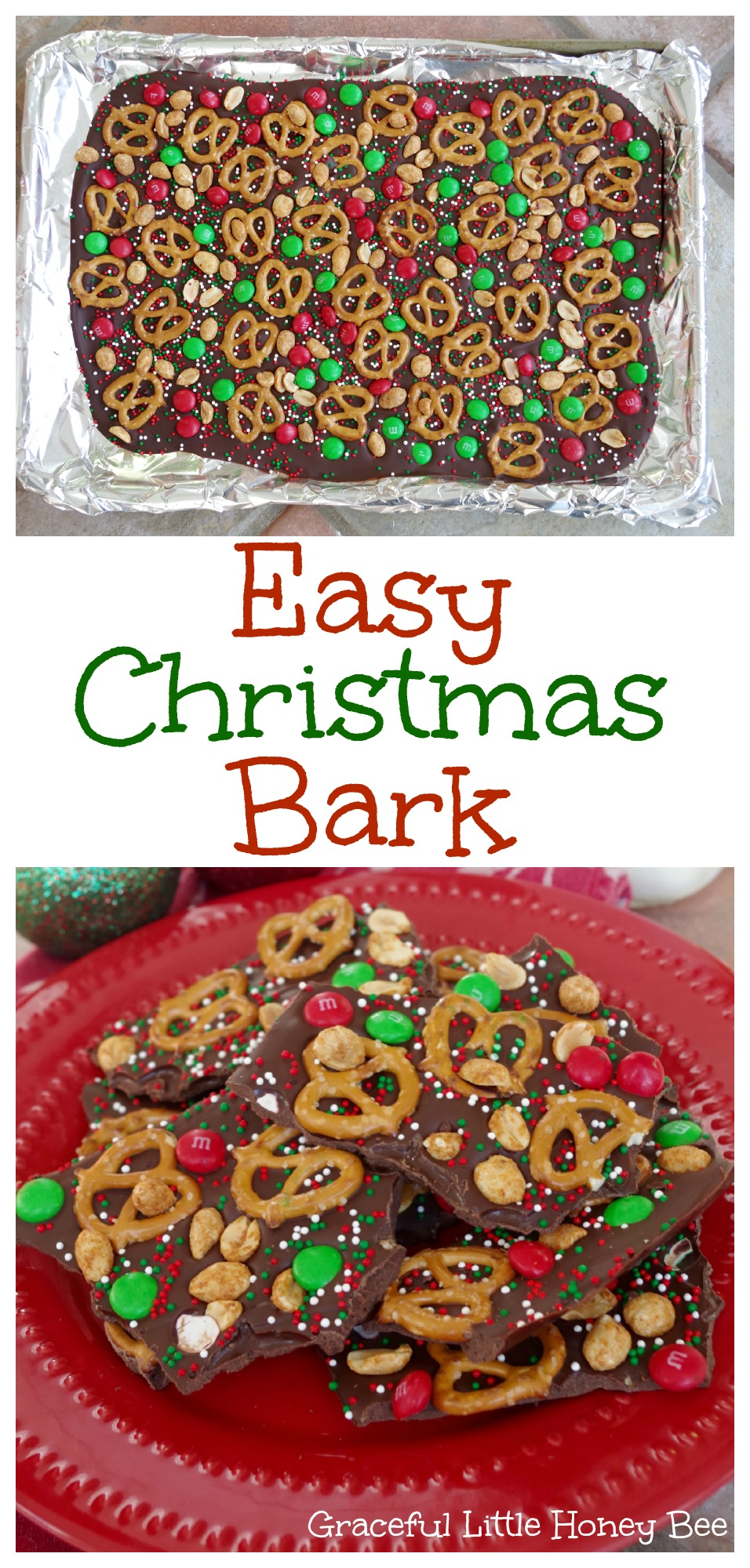 Christmas Bark.Easy Christmas Bark