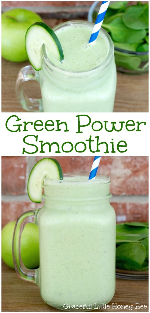 Try this healthy and kid-friendly green smoothie that will give you a boost of energy to power through your day on gracefullittlehoneybee.com