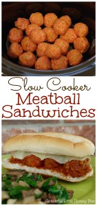 See how to make these easy and delicious Slow Cooker Meatball Sub Sandwiches on gracefullittlehoneybee.com