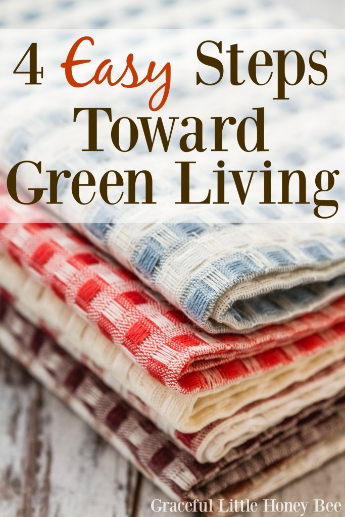 See 4 easy ways that you can live a greener life!