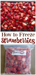 See how easy it is to freeze strawberries for smoothies all year long on gracefullittlehoneybee.com