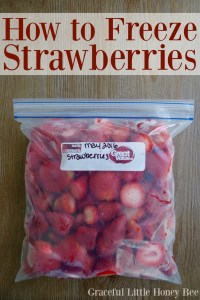 See how easy it is to freeze in season strawberries that can be used in smoothies all year long!