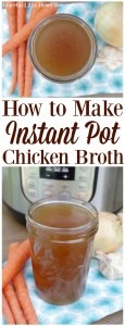 See how easy it is to make homemade Instant Pot Chicken Broth using kitchen scraps on gracefullittlehoneybee.com