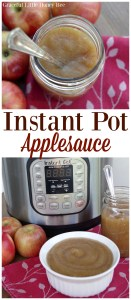 See how quick and easy it is to make applesauce in your Instant Pot or pressure cooker on gracefullittlehoneybee.com