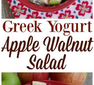 Greek Yogurt Apple Walnut Salad