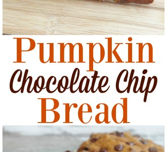 Try this easy and delicious Pumpkin Chocolate Chip bread for a fun fall breakfast or dessert!