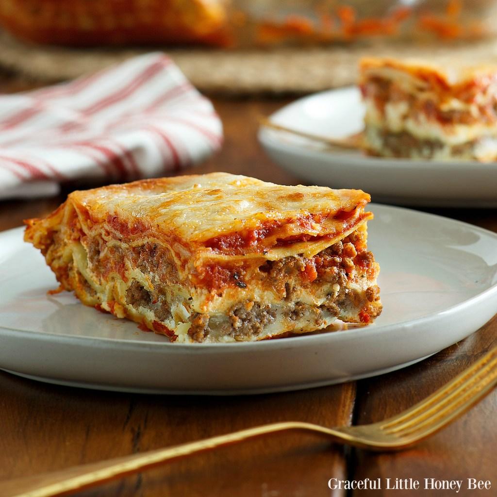 How To Make No Boil Lasagna Using Regular Noodles Graceful Little Honey Bee