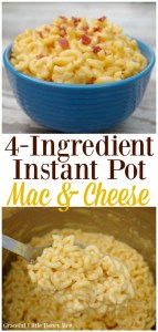 Need a quick weeknight dinner? Try this easy 4-Ingredient Instant Pot Mac and Cheese that I know your whole family will love on gracefullittlehoneybee.com