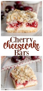 Try these Cherry Cheesecake Bars for a dessert that everyone is sure to love on gracefullittlehoneybee.com