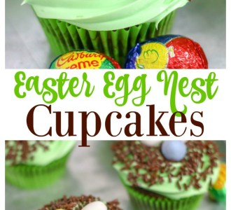Try these Easter Egg Nest Cupcakes for a quick and easy spring dessert on gracefullittlehoneybee.com
