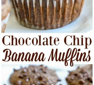 Try these super quick and easy chocolate chip banana muffins for a fun homemade snack or homemade breakfast on gracefullittlehoneybee.com