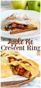 Try a slice of this Apple Pie Crescent Ring for a fun fall dessert the whole family is sure to love on gracefullittlehoneybee.com
