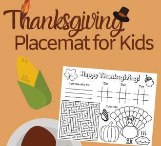 Keep the little ones entertained this holiday with a FREE Printable Thanksgiving Placemat for kids! Find it at gracefullittlehoneybee.com