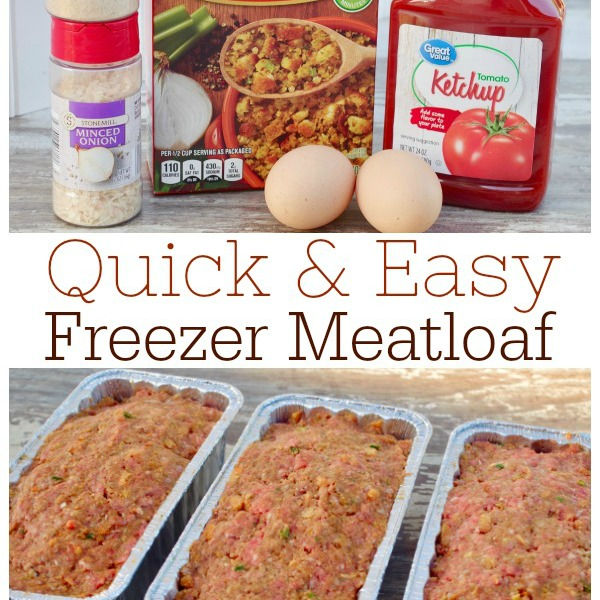 Quick and Easy Freezer Meatloaf - Graceful Little Honey Bee