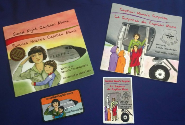 Combo 3: TWO Captain Mama BOOKS (UNSIGNED), TWO PATCHES