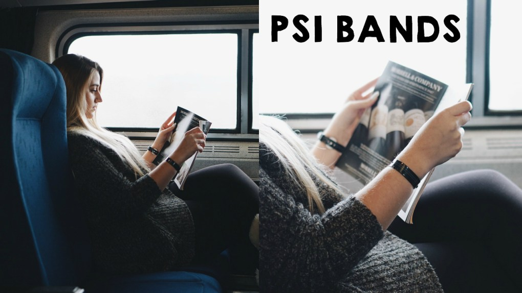 Using our Psi Bands on our 22 hour long train trip! These bands help with motion sickness! Read more at gracefulmommy.com