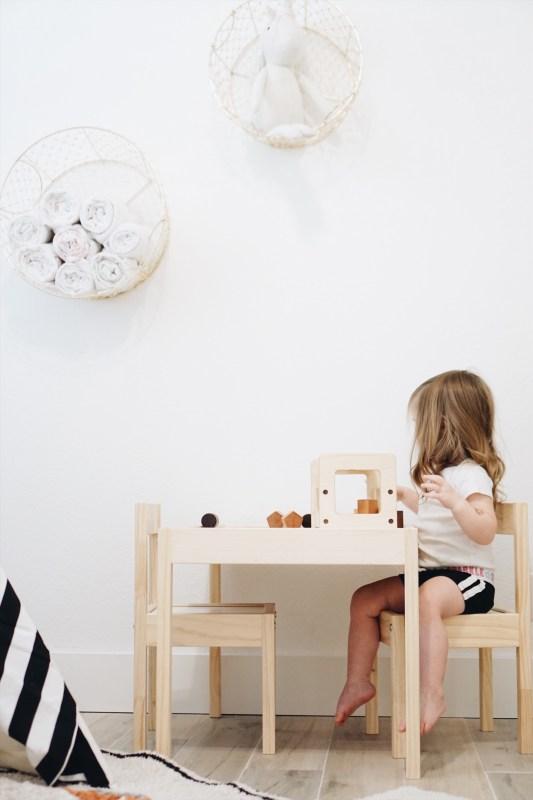 Playroom makeover, playroom, boho playroom, washable rugs, washable rug, lorena canals rugs, teepee, playroom, mommy blogger, playroom DIY, mom blogger, mom blog, toddler room, montessori, montessori room, minimalist, minimalist playroom, toy storage