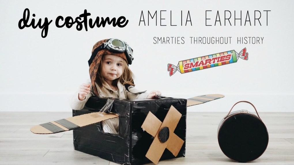 DIY Amelia Earhart Costume. Smarties Throughout History Halloween Costume!